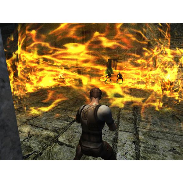 Dungeon And Dragons Online Wizard conjuration of fire.