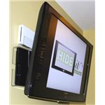 The HideIt mount secretes consoles behind your TV, cutting down on hanging cabline!