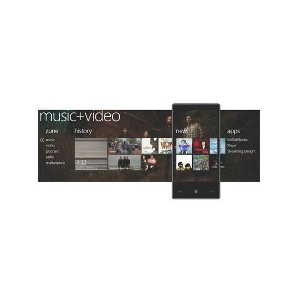 The amazing new Windows Phone 7 Series media player mobile interface
