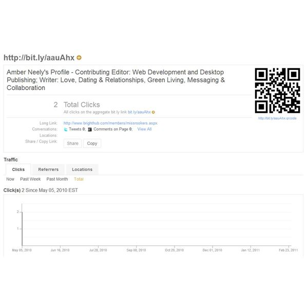 A Shot Of Bit.ly Statistics Page