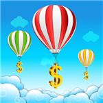 Balloon with Dollar Signs