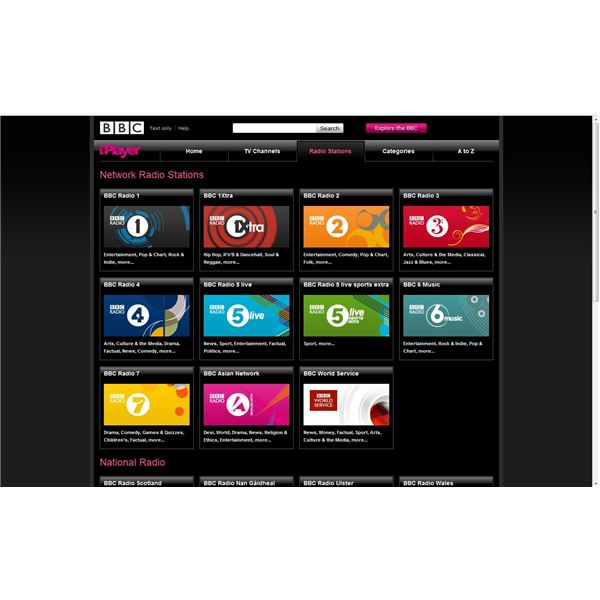 Accessing BBC Radio Online Using the BBC iPlayer