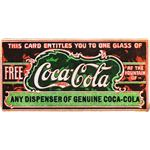 """Ticket for free glass of Coca-Cola"