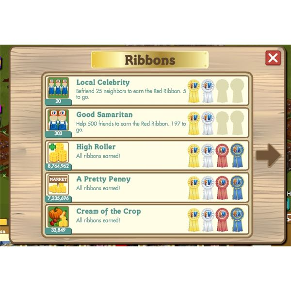 Farmville Ribbons