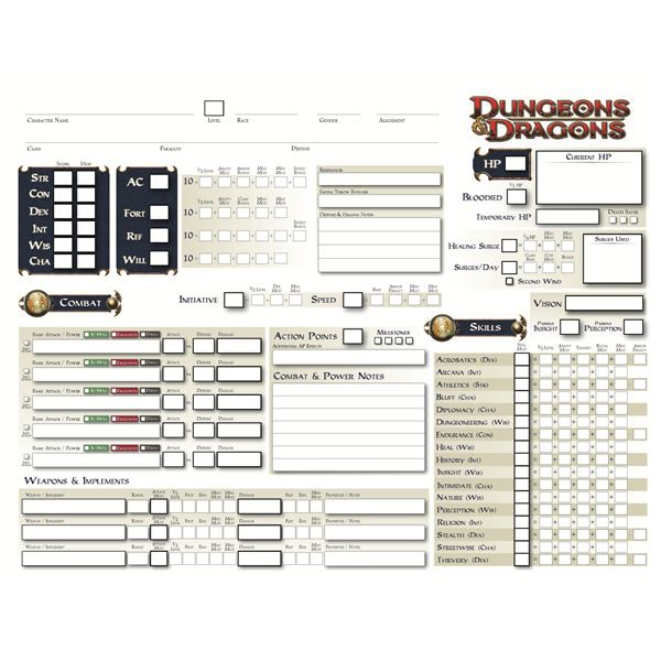 Find Printable D&D Character Sheets to Enhance Your Game Session