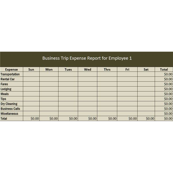 Employee Business Expenses