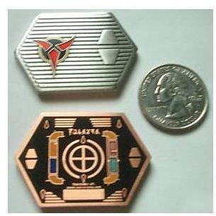 Star Trek Lingon Cloaking Device Copper Geocoin