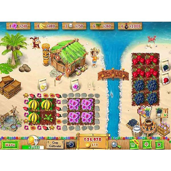 Building a ranch on a tropical island is a fun challenge.