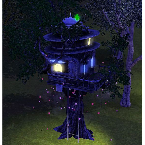 The Sims 3 tree house woohoo