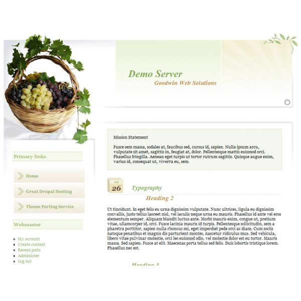 Drupal Templates for Free: Delicious Fruit