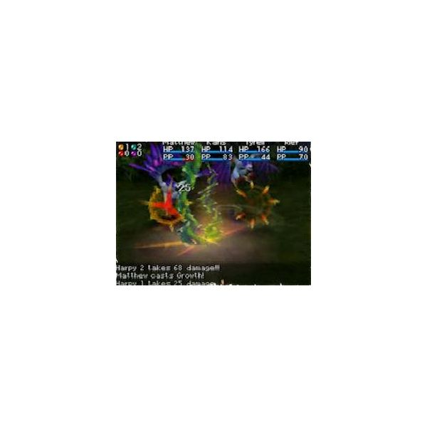 Golden Sun: Dark Dawn Battle Screen