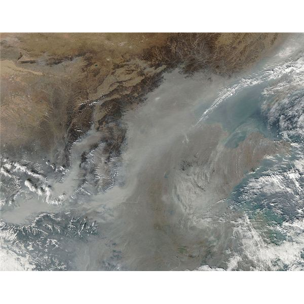 Haze over North China Plain
