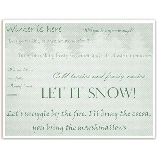 Winter Backgrounds for Word Documents: Text and Trees