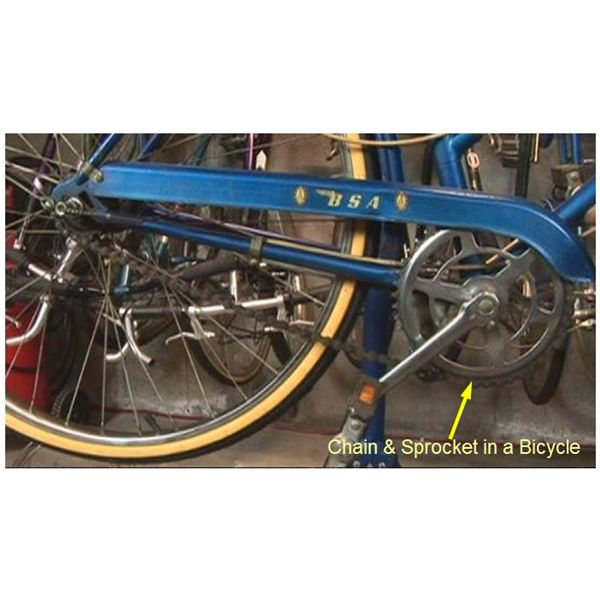 Chain sprocket in a Bicycle