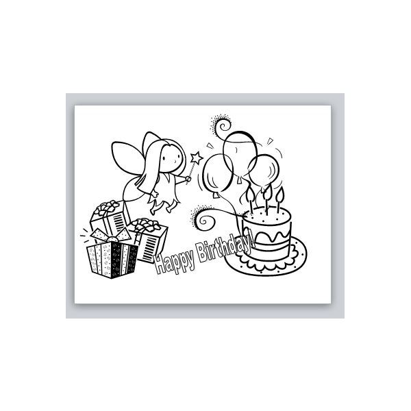 Little Girls Birthday Card For Microsoft Publisher