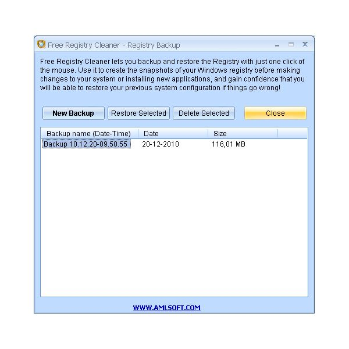 AML Registry Scanner Backup