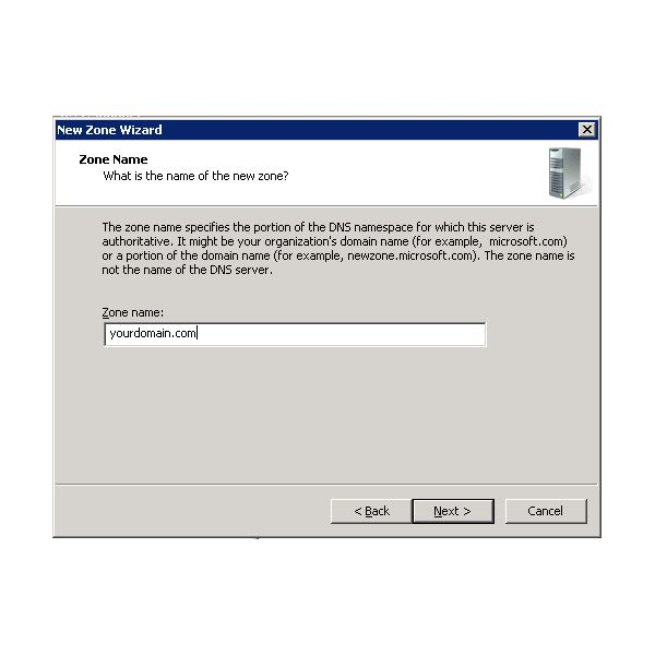 Creating a new Secondary Zone on Windows 2008 DNS
