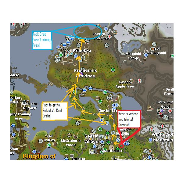 Map To Training Spot in Relleka