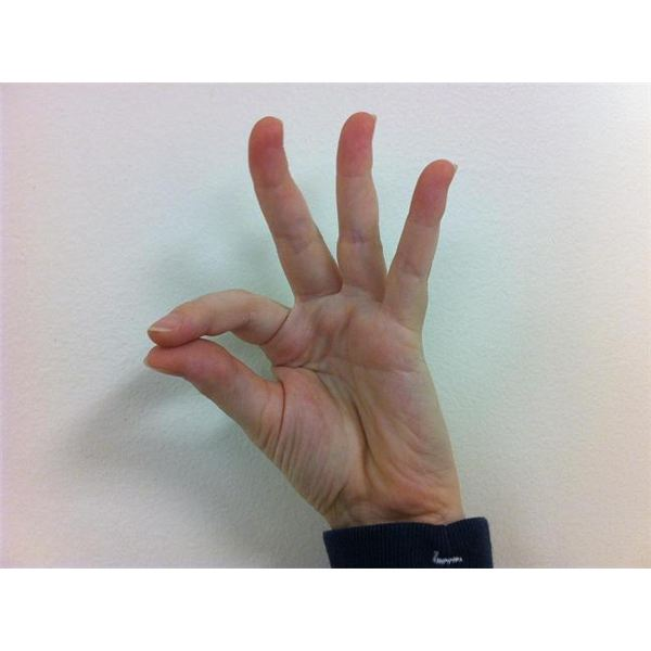 American Sign Language: Fingerspelling F