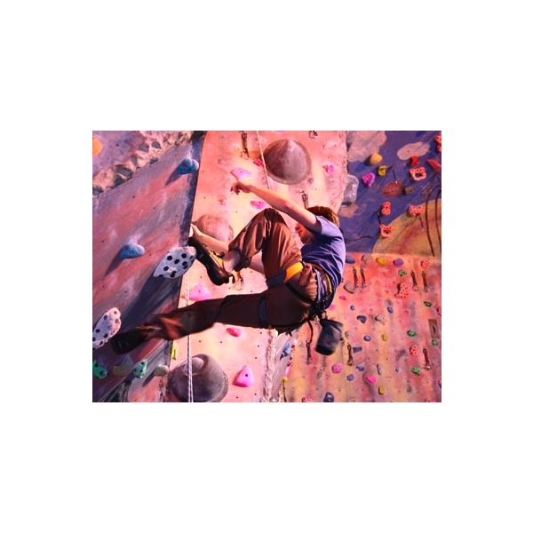 Indoor rock climbing is challenging aerobic exercise that also challenges your brain.