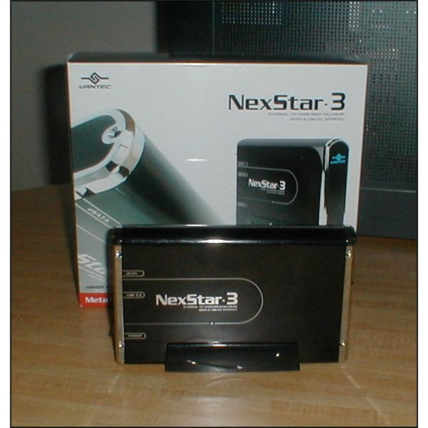 The NexStar 3 is black with chrome accents.