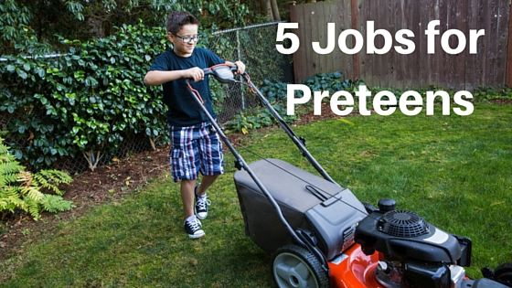 Five Great Jobs for Pre-Teens