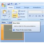 Add a New Slide in PowerPoint 2007