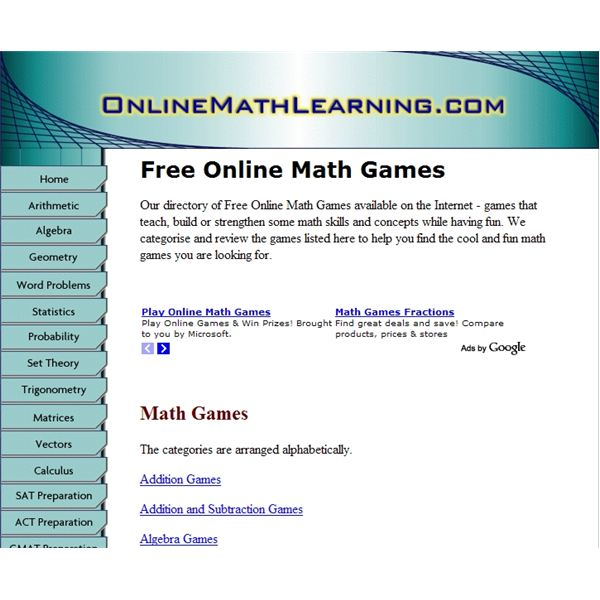 Free Online Math Games - Improve Your Algebra Math Skills Online With Free Games