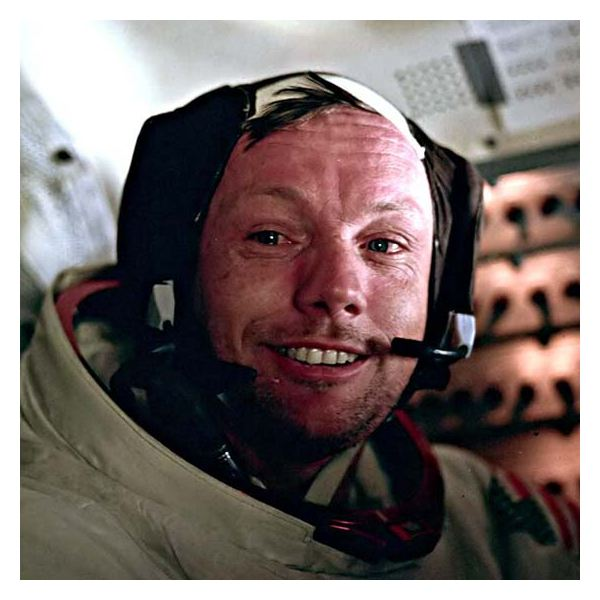 Neil Armstrong During The Apollo 11 Flight