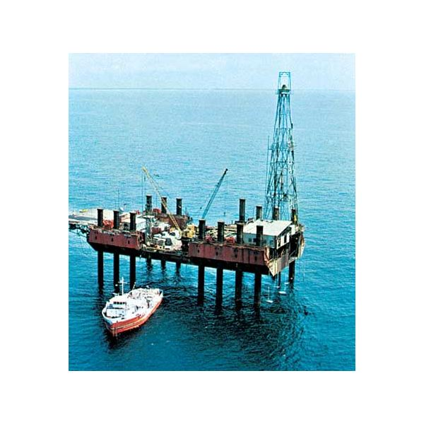oil drilling for black gold extraction from deep sea floor