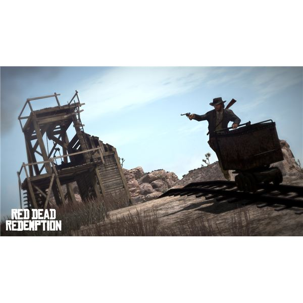 Red Dead Redemption: A scene from one of the missions.