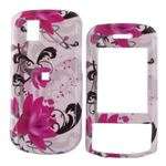 For LG Shine 2 II Hard Case Cover Pink Flowers White