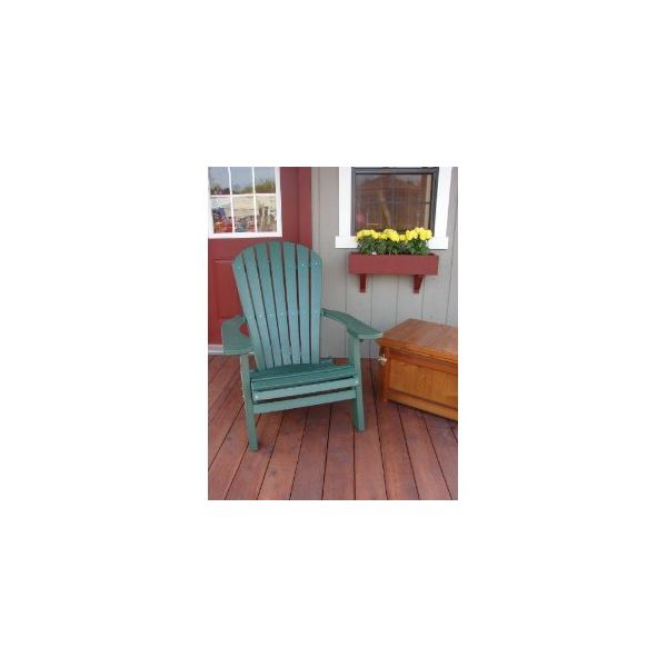 Recycled Poly Wide Folding Adirondack Chair - Dark Green