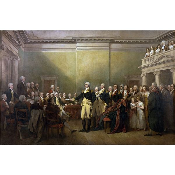 George Washington Taking the Oath of Office