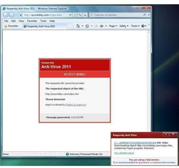 KAV 2011 Blocks Exploits