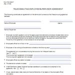 Image of USDA Telecommuting Agreement