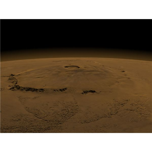 A Close-up View of Olympus Mons