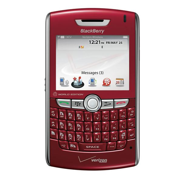 Blackberry World Edition red