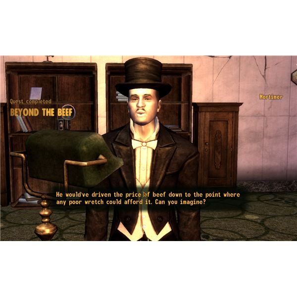 Fallout: New Vegas Guide - Beyond the Beef - Helping Mortimer