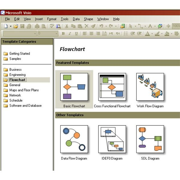 Creating process maps in visio basic flowcharts and cross for Building mapping software