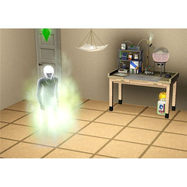 The Sims 3 chemistry ghost potion