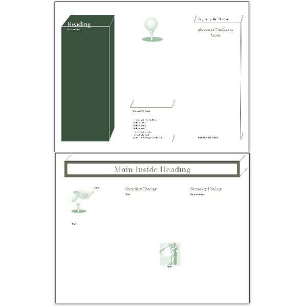 Simple Boxes Golf Brochure