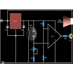 Simple Smoke Sensor Schematic Diagram Using TGS 813, Image