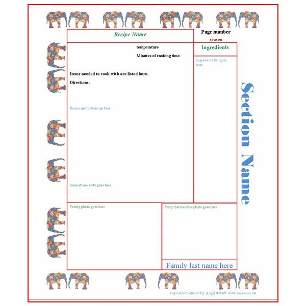 Free thanksgiving recipe card template the best collection for Template for recipes in word