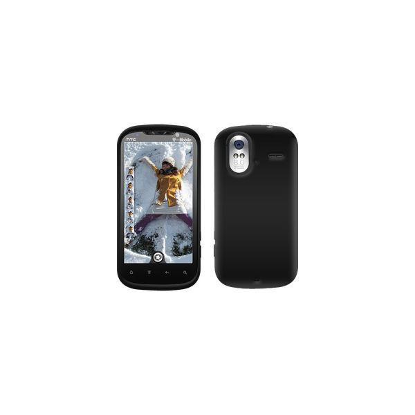 Amzer® Rubberized Black Snap On Crystal Hard Case For HTC Amaze 4G
