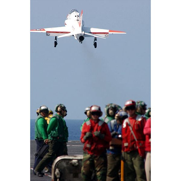400px-US Navy 020511-N-1058W-515 A T-45 Goshawk launches from USS Harry S. Truman