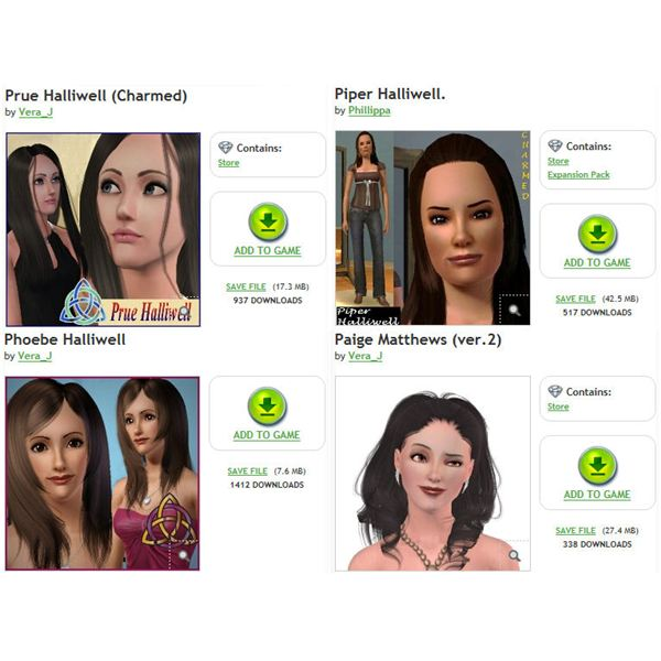 The Sims 3 Charmed Sisters
