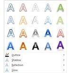 Microsoft Word Text Effects Menu