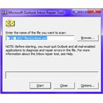 Fig 1 - Outlook PST Repair - The ScanPST Application from Microsoft
