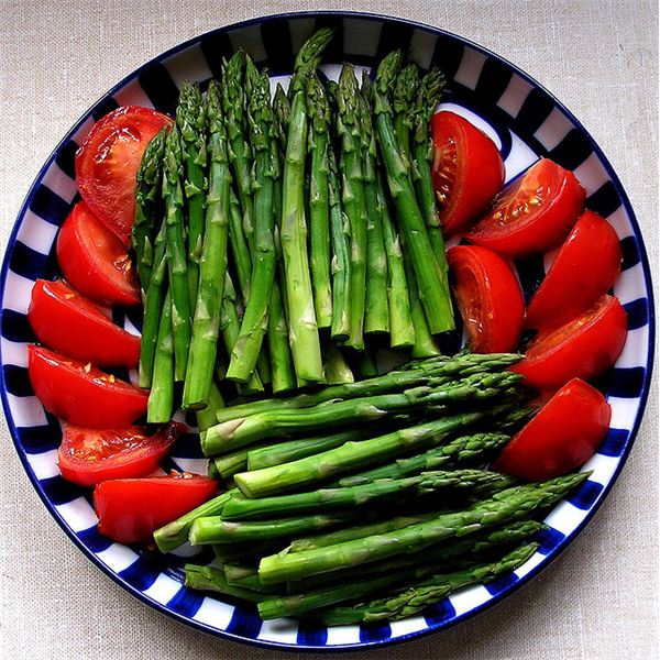 You don't have to limit on asparagus and tomatoes,